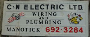 C & N Electric & Plumbing Ltd sign