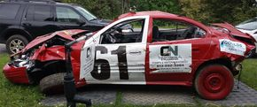 C & N Electric & Plumbing derby car